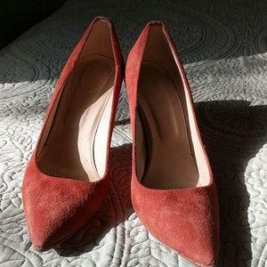 J.Crew rust color heels